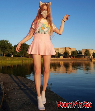 Young Cosplay Skinny Babe