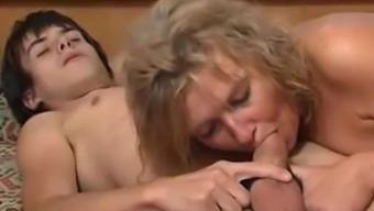 Blonde mom and drunk son taboo sex video