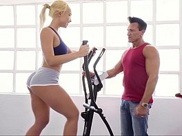 Round butts teen babe fucking by fitnes trainer